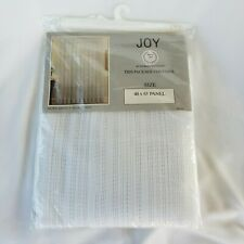 "White 100% Polyester Window Curtain Panel Geometric Lace Pattern 40""x 63"""