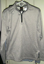 Mens Head M Medium 1/4 Zip Pullover Shirt Jacket Perfect Gray Tennis