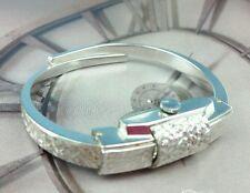 Vintage Hidden Watch Expansion Cuff Bangle Bracelet Consul Wind-Up Swiss Works
