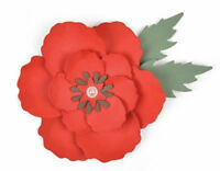 Sizzix Poppy Die 663353   BIGZ Die  Poppy Flower Floral