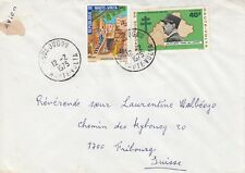 A183 Upper Volta Feb 1975 cover  to Switzerland; De Gaulle