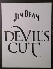 """Jim Beam Devil's Cut Devils 8.5"""" x 11"""" Custom Stencil FAST FREE SHIPPING"""