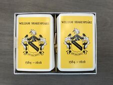 VINTAGE WILLIAM SHAKESPEARE DOUBLE DECK PLAYING CARDS - CIRCA 1960'S