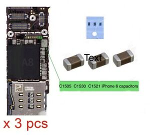3 X Backlight Capacitor C1505 C1530 C1531 Condenser for iPhone 6 and 7