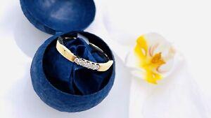 Wunderschöner Diamant Memory Eternity Ring 585/14K GG mit 5 Brillanten!