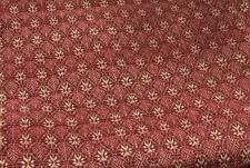 New Primitive Colonial BARN RED TABLE CLOTH Woven Coverlet Table Square 52""
