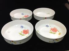 Mikasa JUST FLOWERS Set of Four (4) Fruit / Dessert Bowls Bone China GREAT COND