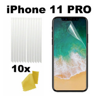10 x Clear Plastic Screen Guard LCD Protector Film Layer - Apple iPhone 11 PRO