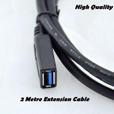 Usb 2.0 Extensor Plomo 2 Metros Negro Cable de extensión un enchufe macho a una mujer