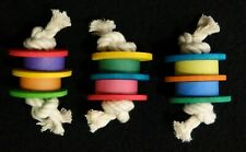 3 Pack Discus Foot Toys - Small to Medium Bird Parrot Toy - Fowl Play