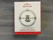 HALLMARK 2016 GRANDBABY'S FIRST CHRISTMAS KEEPSAKE ORNAMENT MINT NEW
