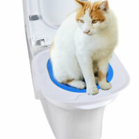 Cat Toilet Training Kit Litter Tray Box Trainer Pet Kitten Cleaning Potty Supply