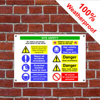 Multi message site safety sign CONS012 Building Site notices and safety signs