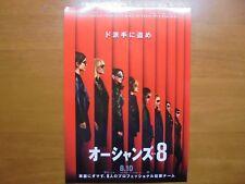 Sandra Bullock Ocean's 8 MOVIE FLYER mini poster Chirashi Japan 30-2