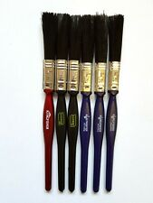 "Half Inch Paint Brush Set 0.5"" (12mm) Small Paint Brushes Pack Synthetic Brushes"