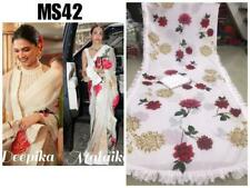 Saree Designer Bollywood Rangoli Silk Digital Printed Sari Wedding Ethnic WearMA