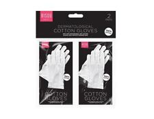 Dermatological White Cotton Gloves, Help Protect Damaged Skin , Pack of 2