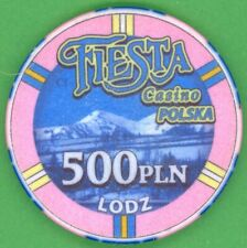 PL - Fiesta Casino Łódź - 500 PLN - high nominal old casino gambling chip