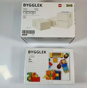 IKEA & LEGO BYGGLEK Storage Box + Lego 201-Pieces Brick 40357 Complete Set (New)