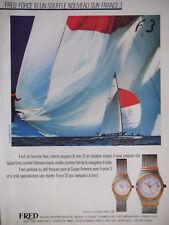 PUBLICITÉ PRESSE 1983 FRED FORCE 10 UN SOUFFLE NOUVEAU SUR FRANCE 3 - VOILIER