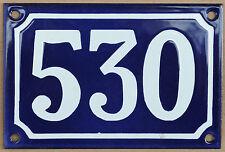 CASA Francese Blu numero 530 Porta Cancello Piastra Placca in Acciaio Smaltato Metallo Segno