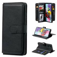 Para Samsung Galaxy A71 A51 A70 A50 A40 A30S A20E A10E Funda billetera de cuero