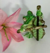 Vintage Made in Occupied Japan Frog Playing Instrument Figurine