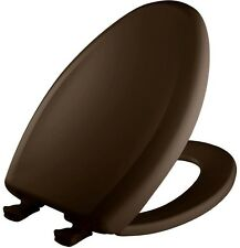 Slow Soft Close Elongated Closed Front Bathroom Toilet Seat Brown