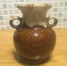 Small brown ceramic vase with 2 handles *NEW*