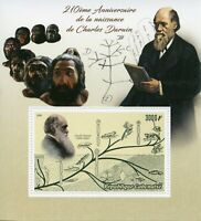 Gabon Stamps 2019 MNH Charles Darwin Plants Birds Science Famous People 1v S/S
