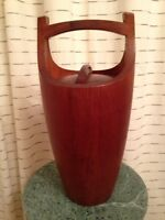 Vintage Dansk Quistgaard Ice Bucket Cooler Teak Wood Mid Century Mint Condition