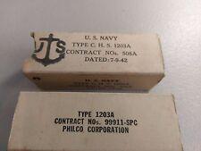 Pair Sylvania Military 7C4 / 1203A Octal Radio Tubes Fully Guaranteed