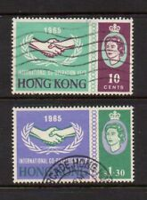 HONG KONG QUEEN ELIZABETH 1965 INTERNATIONAL COOPERATION YEAR - SG 216-218 USED