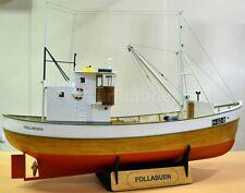 "Beautiful, brand new TurkModel wooden ship kit: the ""Follabuen"" Norwegian Fisher"