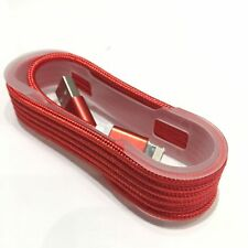1.5m  Nylon Lightning USB Charger Cable for Iphone 5S 6 6S plus Red