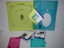 4 Creative Memories Templates Corners & Borders, Lines & Designs, Leaf, Teacup