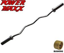 POWER MAXX Olympic EZ Curl Bar Biceps Triceps Barbell  Arm Workout Training