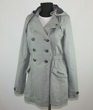 Bench womens grey coat jacket Size L 100% cotton