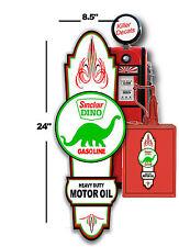"(SINC-LUB-5) 24"" X8.5"" SINCLAIR HOT ROD SIGN LUBSTER DECAL OIL GAS PUMP GASOLINE"