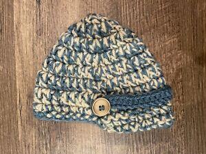 Baby Hat / Hand Knit Brim Beanie (3-6 Months)