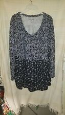 Woman Within LARGE Black (18/20) Tunic Top Plus