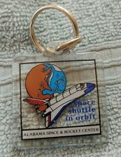 1980's ALABAMA SPACE & ROCKET CENTER Huntsville Alabama KEY-CHAIN Never Used