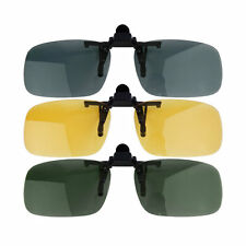 Unisex Driving Night Vision Clip-on Flip-up Eyewear Polarized Lens Anti-uv #pgh