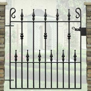 "Single Garden Gates Wrought Iron Metal Steel Gate - 3ft  3"" (991mm)Opening"