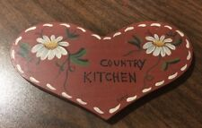 """Country Kitchen Wood Plaque 6"""" X 4"""""""