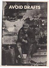 "Nice Mint Vintage Original '67 Hippie Head Shop ""Avoid Drafts"" Anti War Postcard"