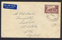 1951 1/6d Federation on airmail cover to the UK NS799