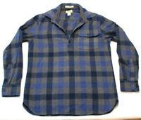 LL Bean Flannel Chamois Shirt Small Regular pullover henley thick heavyweight