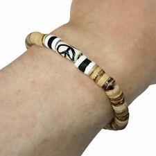Beaded Wooden Bracelet Wristband Bangle Mens Womens Boys Girls Ladies Jewellery