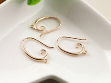 6pcs (3pair) 27x18mm Rose Gold Plated Earring Hooks